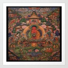 Buddha Amitabha in His Pure Land of Suvakti Art Print