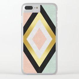 Fashion diamond III Clear iPhone Case