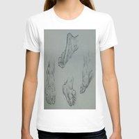 feet T-shirts featuring Feet by Esteban Garza