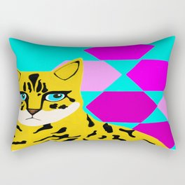 Bengal & Hexagons Rectangular Pillow