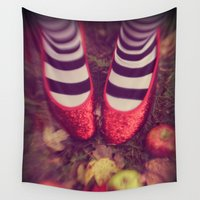 oz Wall Tapestries featuring Dorothy Wizard of Oz by AndreaClare