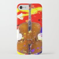 cello iPhone & iPod Cases featuring Mellow Cello by Brian Raggatt