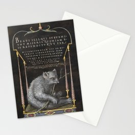 Sloth  fine art painting by Georg Bocskay and Joris Hoefnagel for The Model Book of Calligraphy Stationery Cards