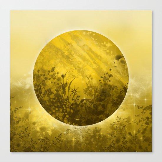 circle yellow landscape Canvas Print