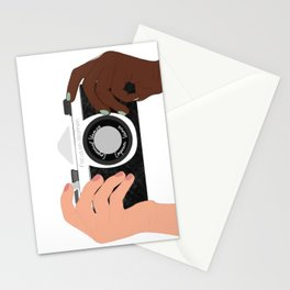 Camera with Hands  by Emily Rae Fiasco Stationery Cards