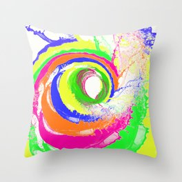 Whirlpool of Colour Throw Pillow