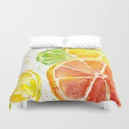 Fruit Watercolor Citrus Duvet Cover