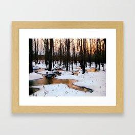 Emerging Pools Framed Art Print