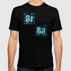 Br Ba MEDIUM Black Mens Fitted Tee
