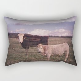 Two Cows Rectangular Pillow