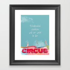 Unattended children Framed Art Print
