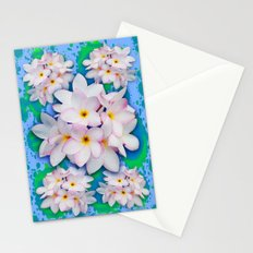 Plumeria Bouquet Exotic Summer Pattern Stationery Cards