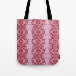 Red lace Tote Bag