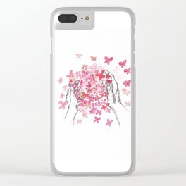 Butterfly Ball Clear iPhone Case