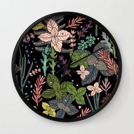 mysterious herbs Wall Clock