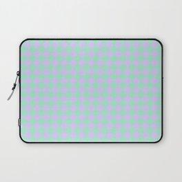 Magic Mint Green and Pale Lavender Violet Diamonds Laptop Sleeve