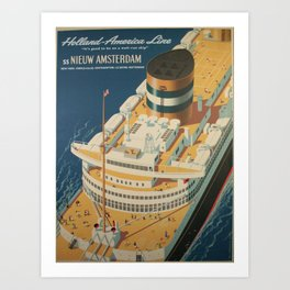 Vintage poster - Cruise ship Art Print