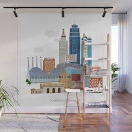 Kansas City Skyline Wall Mural