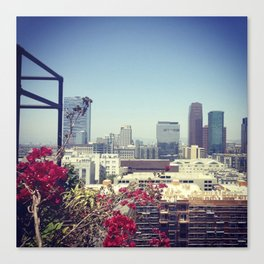 Downtown Los Angeles view from The Ace Hotel  Canvas Print