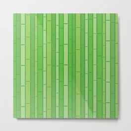Green Bamboo Trees Wall Pattern Metal Print