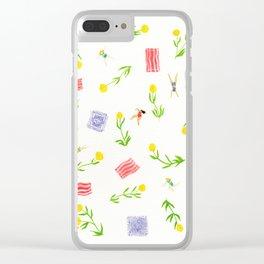 Orange Bloom Clear iPhone Case