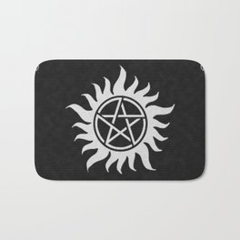 Supernatural Holiday Sweater Bath Mat