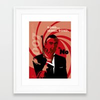bond Framed Art Prints featuring Bond by Nile