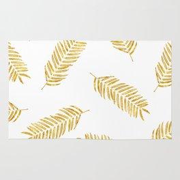 Gold Leaves Pattern Rug