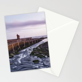 Lynmouth Harbour at dawn twilight. Devon, UK. Stationery Cards