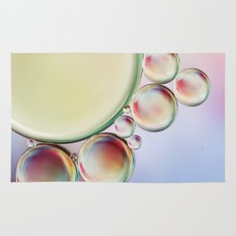 Bubble Abstract with a hint of Pink Rug