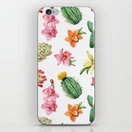 Watercolor Cacti Pattern iPhone Skin