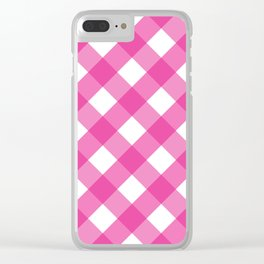 Pink & White Checkered Pattern-Mix and Match with Simplicity of Life on #Society6 Clear iPhone Case