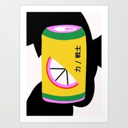 Orange Can Art Print