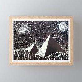 """The Watchers #2"" Hand-Drawn by Dark Mountain Arts Framed Mini Art Print"
