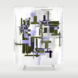 Abstract Seaweed Purple Design Shower Curtain