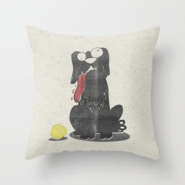 Stupid Dog Throw Pillow