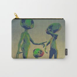 Little Green Family Portrait Carry-All Pouch