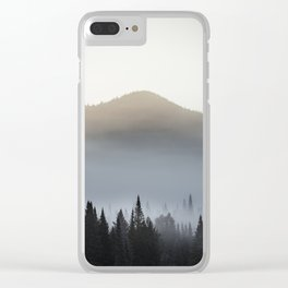 Sunrise over the montains Clear iPhone Case