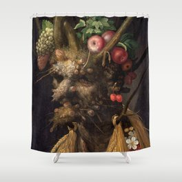 Four Seasons In One Head - Giuseppe Arcimboldo Shower Curtain