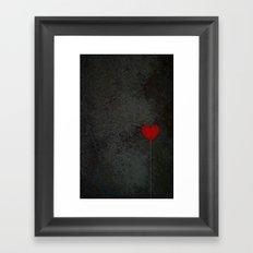 I heart balloons Framed Art Print