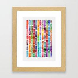 Colorful Brick Road Watercolor Framed Art Print