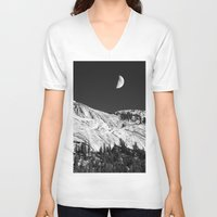 yosemite V-neck T-shirts featuring Yosemite by Claude Gariepy