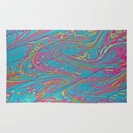 Pinky Swirl Water Marbling Rug