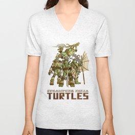 Steampunk Ninja Turtles Unisex V-Neck