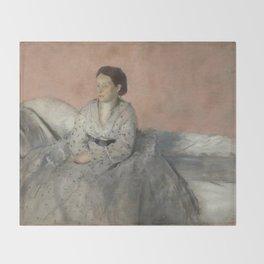 Portrait of Madame René de Gas Throw Blanket