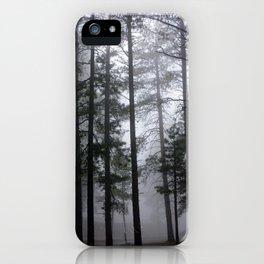 Mist Fog Ponderosa Pine Trees iPhone Case