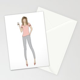 Coffee Girl Stationery Cards