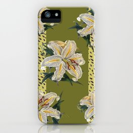 Tiger Lillys and Dots iPhone Case