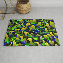 Smoky bright on colored spots and splashes of yellow colors. Rug