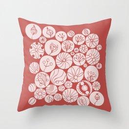 Botanical Forms Throw Pillow